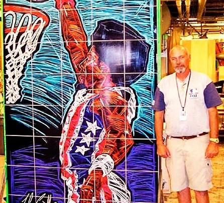 Basketball-Mural