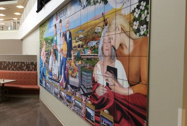 Freeman Hospital - Caring Hearts Mural 01