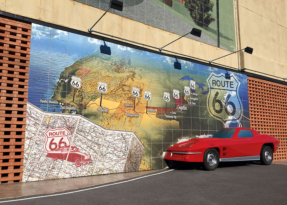 Downtown Joplin Route 66 Mural Park Images In Tile Usa