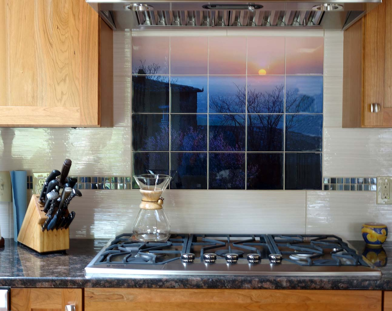 Kitchen Backsplash Italian Scene - Images In Tile USA